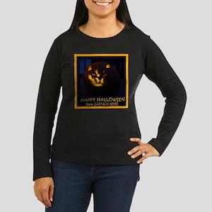 Halloween PumpkinWomen's Lg Sleeve Dark T-Shirt