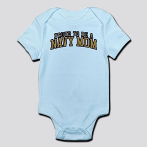 Proud To Be A Navy Mom Baby Light Bodysuit