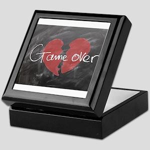Game Over Chalkboard Keepsake Box