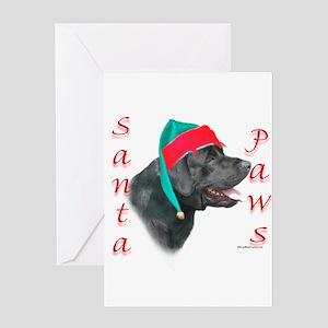 Santa Paws Black Lab Greeting Card
