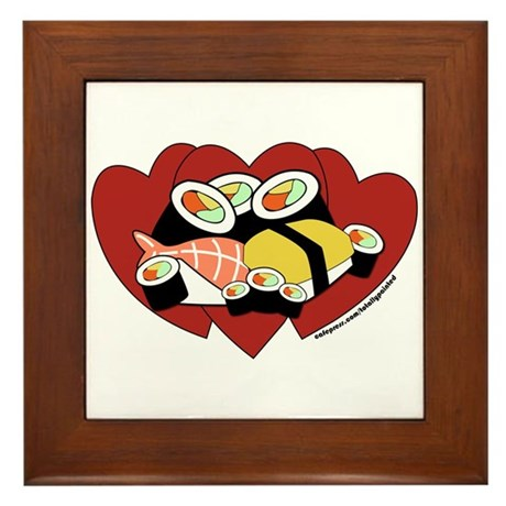 Sushi Love Framed Tile