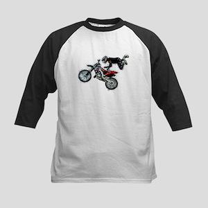 Motocross Jump Splatter Baseball Jersey