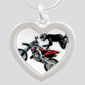 Motocross Jump Splatter Necklaces