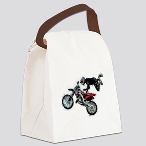 Motocross Jump Splatter Canvas Lunch Bag