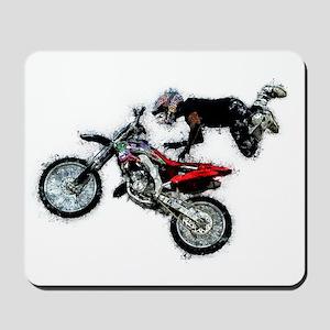 Motocross Jump Splatter Mousepad