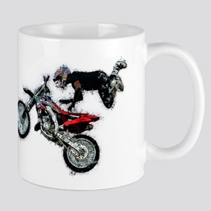 Motocross Jump Splatter Mugs