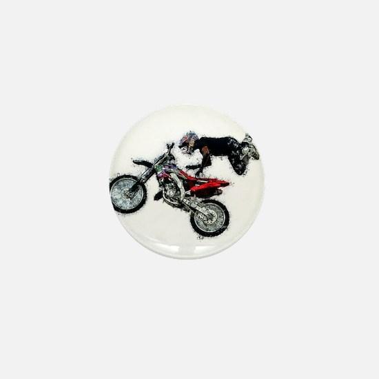 Motocross Jump Splatter Mini Button