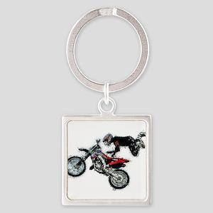 Motocross Jump Splatter Keychains