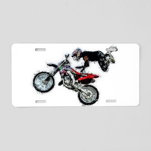 Motocross Jump Splatter Aluminum License Plate