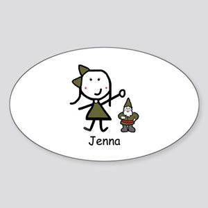 Gnome - Jenna Oval Sticker