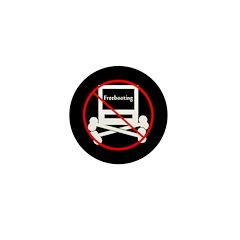No Freebooting Mini Button