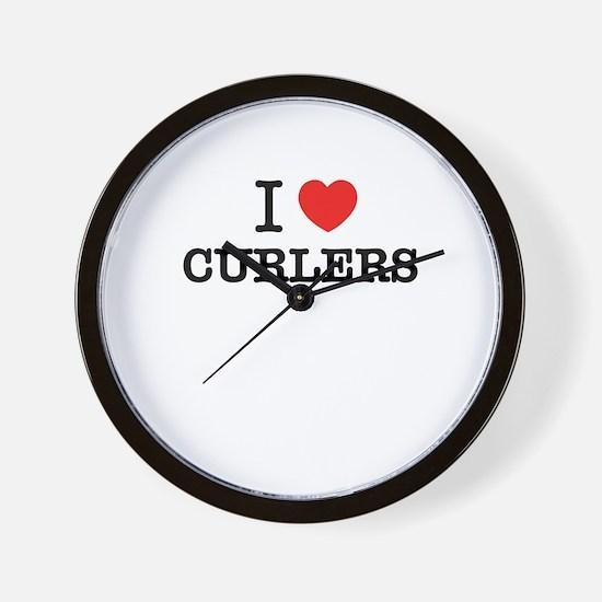 I Love CURLERS Wall Clock