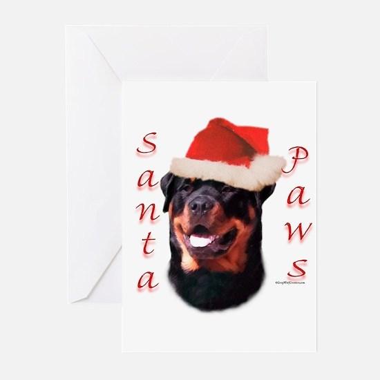 Santa Paws Rottweiler Greeting Cards (Pk of 20)