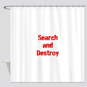 Search and Destroy Shower Curtain