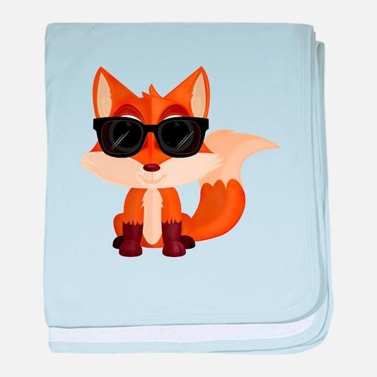 Cool Fox baby blanket