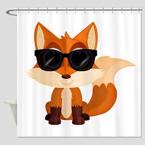 Cool Fox Shower Curtain