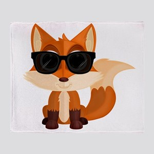 Cool Fox Throw Blanket