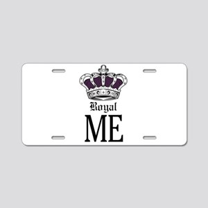 Royal Me - Purple Aluminum License Plate