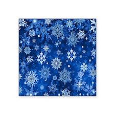 Christmas Snowflakes Blue White Sticker