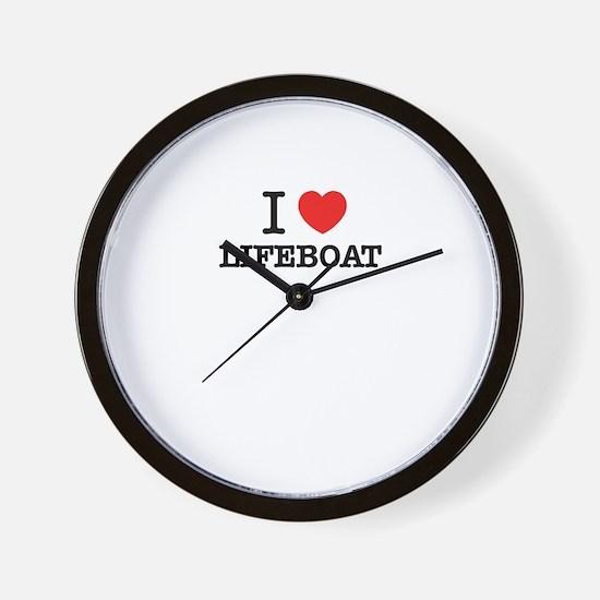I Love LIFEBOAT Wall Clock