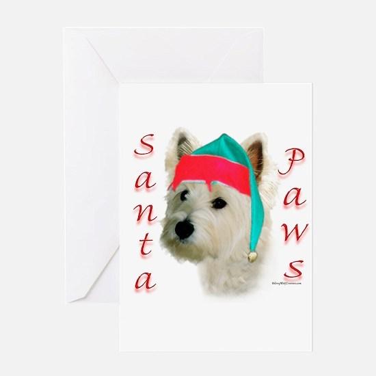 Santa Paws Westie Greeting Card