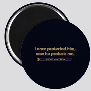 U.S. Navy Now He Protects Me Magnet