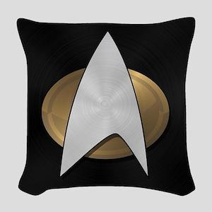 STARTREK TNG METAL 5 Woven Throw Pillow
