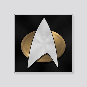 "STARTREK TNG METAL 5 Square Sticker 3"" x 3"""