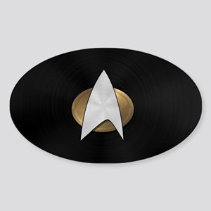 STARTREK TNG METAL 5 Sticker (Oval)