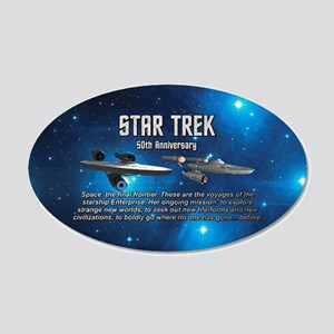 50TH FINAL FRONTIER 20x12 Oval Wall Decal