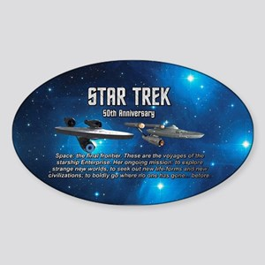 50TH FINAL FRONTIER Sticker (Oval)