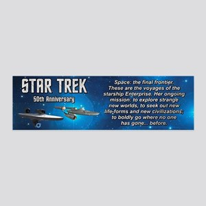 50TH FINAL FRONTIER 36x11 Wall Decal