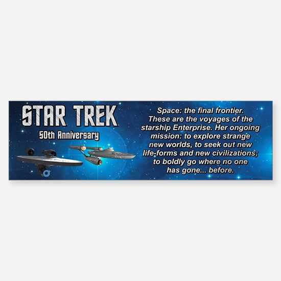 50TH FINAL FRONTIER Sticker (Bumper)
