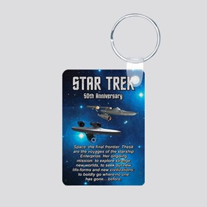 50TH FINAL FRONTIER Aluminum Photo Keychain