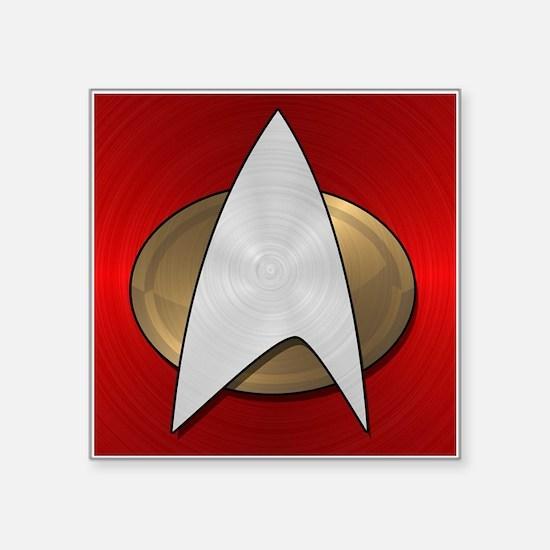"""STARTREK TNG METAL 4 Square Sticker 3"""" x 3"""""""