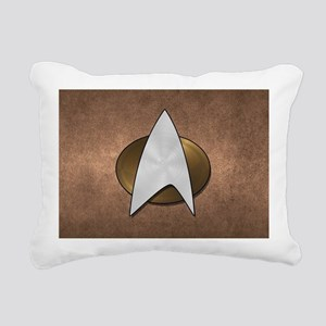 STARTREK TNG METAL 3 Rectangular Canvas Pillow