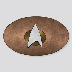 STARTREK TNG METAL 3 Sticker (Oval)