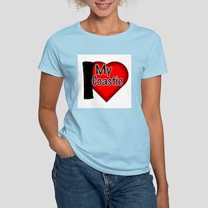 """I Love My Coastie"" Gear Women's Pink T-Shirt"