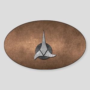 STARTREK KLINGON METAL 1 Sticker (Oval)