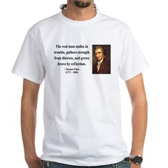 Thomas Paine 17 White T-Shirt