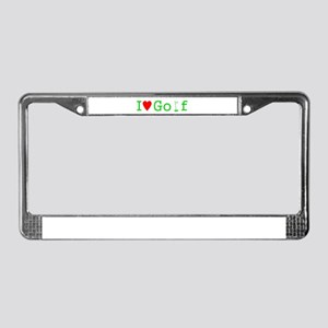 I Heart Golf License Plate Frame