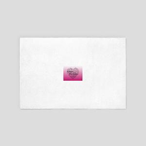Pink Happy Birthday Heart 4' x 6' Rug