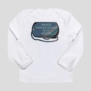 Proud United States Nav Long Sleeve Infant T-Shirt