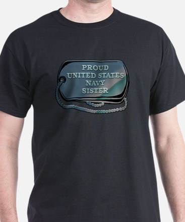 Proud United States Navy Sister T-Shirt