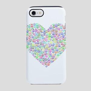 Rainbow Heart of Peace iPhone 8/7 Tough Case