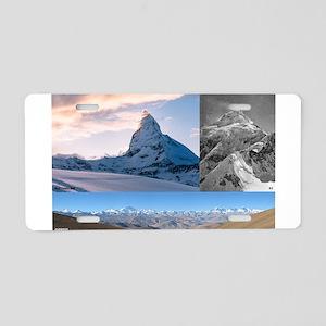 Everest,K2 and Matterhorn Summits Aluminum License