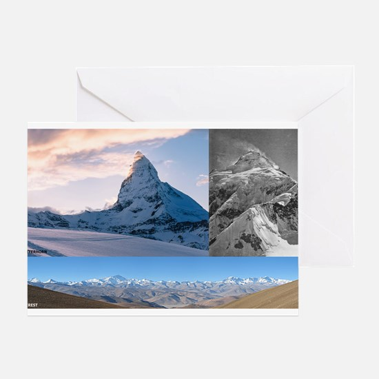 Everest,K2 and Matterhorn Summits Greeting Cards
