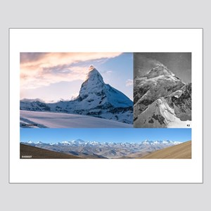 Everest,K2 and Matterhorn Summits Posters