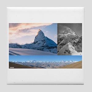 Everest,K2 and Matterhorn Summits Tile Coaster
