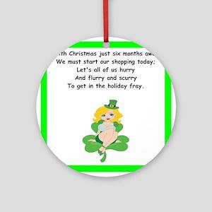 funny limerick Round Ornament